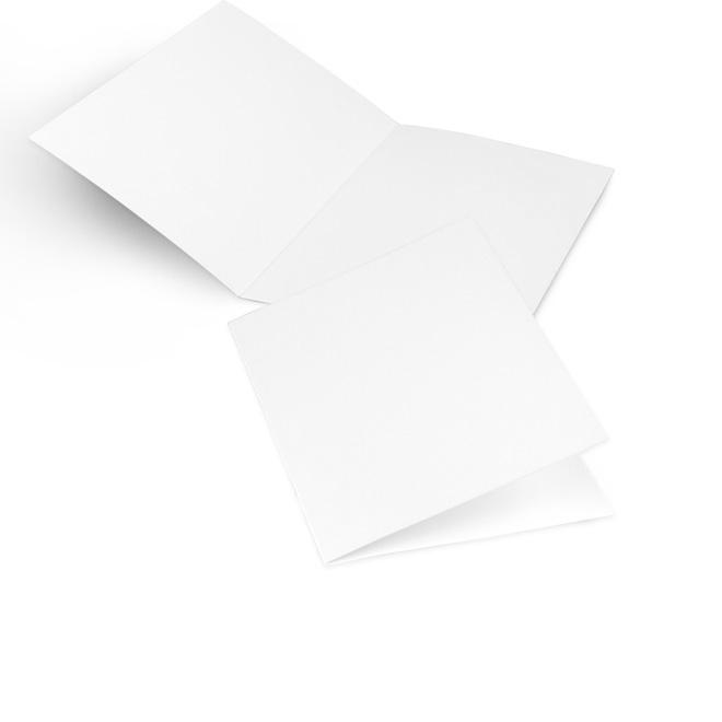 Abbildung einer Karte im Hochformat, leere, weisse Seiten, fuer individuelle Gestaltung